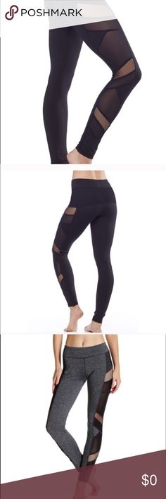 New❤️Sexy Mesh Work Out Legging Cool off and be trendy in this top selling mesh panel legging!! Polyester and Spandex. Size S, M, L runs true to size... my favorite workout legging ever!  Electric Yoga Pants Leggings