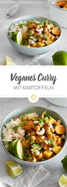 Rundum gesund und vegan: Dieses würzige Curry steht in Windeseile auf deinem Esstisch. Es schmeckt aromatisch, würzig und nach einem Hauch von Urlaub.