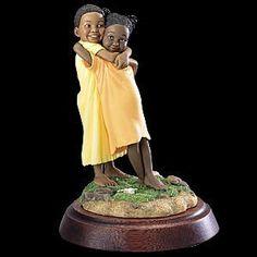 homas Blackshear | Thomas Blackshear Ebony Visions Double Hug Figurine