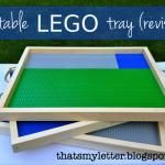 Portable Lego tray! We need some of these for Christmas gifts for some boys I know!