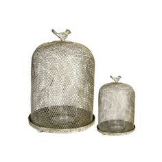A&B Home Ophira Golden Sparrow Mesh Candle Holders - 2Pc/Box - Set Of 2