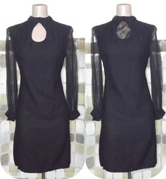 Vintage 60s Sheer Sleeve Keyhole Cutout Little by IntrigueU4Ever, $59.99