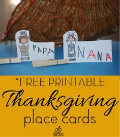*Free printable #Thanksgiving place card craft for kids. This is a great way to practice writing and a nice way the kids can contribute the feast!