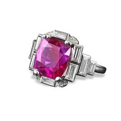 A lovely natural Sri-Lankan purplish red cushion ruby of 6.17 carats is…