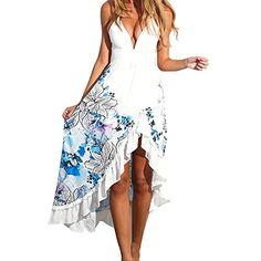 0551d27d6cc4 Hotkey® Clearance Women Dresses Boho Cocktail Party Evening Maxi Dress  Beach Sundress for Summer