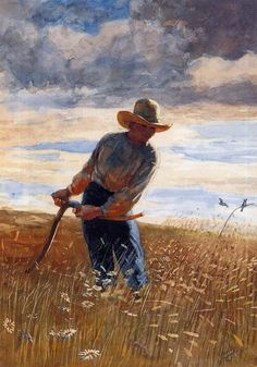 The Reaper (1878) by Winslow Homer (1836-1910). Watercolour on paper.  Art Renewal Center Wikimedia.