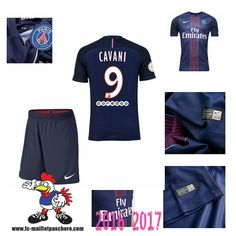 Promo Maillot Du Paris Saint-Germain Bleu Enfant (CAVANI 9) Domicile 2016/2017…
