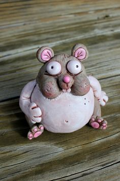 Chubby Hamster Polymer Clay Sculpture by mirandascritters on Etsy