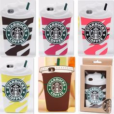 Starbucks Coffee Silicone Cover Case Skin For iPhone5GS 5C 6 4.7