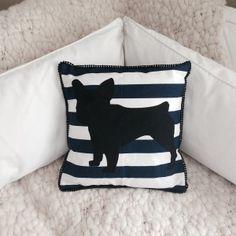 Almohadón Bulldog Azul