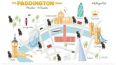 Take Your Kids To London and Follow Paddington Bear All Over Town.  Paddington trails lead you to 50 specially decorated Paddington Bear statues across the city from Nov 4 to Dec 30, 2014.