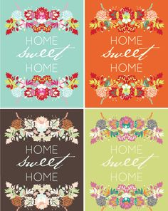 "Printable Art:  ""Home Sweet Home"" from Going Home to Roost via Printable Decor"
