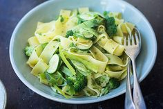Pappardelle with seasonal greens and herbs – Recipes – Bite