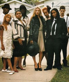 Kate Moss at Tupac's funeral.