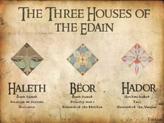 Therefore the kings of the three houses of the Noldor, seeing hope of strength in the sons of Men, sent word that any of the Edain that wished might remove and come to dwell among their people. ~ The Silmarillion, Chapter 17 (The Three Houses of the Edain)