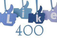 400 Likes on Facebook! Thank you for the support!