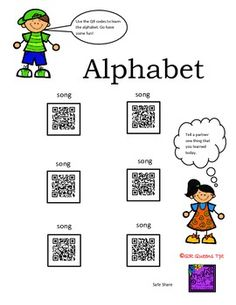 ALPHABET (A-Z) USING QR CODES - Pre K-1st $ Great for learning phonics. Keep those little ones interested in learning. Great for early finishers, centers, differentiated instruction and so much more using technology! SO many QR Codes for the money!