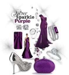 """I love the purple dress style """"Silver Sparkle Purple"""" by prtskin on Polyvore"""