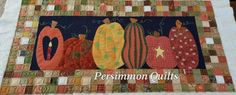 Pumpkins quilt made by Betty G.  Longarmed by Le Ann Weaver of Persimmon quilts.