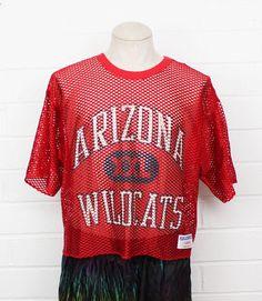 fbd06b9f University of Arizona practice jersey red mesh large jersey from  Nack4Vintage... Univeristy Of
