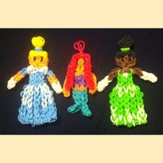 Princess Rainbow Loom Band Keychain by MyLoomAddiction on Etsy, $3.00