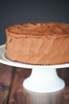 This Old-Fashioned Chocolate Layer Cake with Chocolate Frosting is the only chocolate cake recipe you'll ever need! | http://www.browneyedbaker.com/chocolate-cake-recipe-chocolate-frosting/