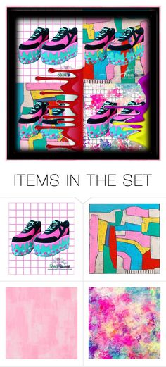 """""""Kawaii shoes"""" by beanpod ❤ liked on Polyvore featuring art"""
