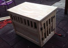 Build your best friend this awesome dog crate that your girlfriend will love.