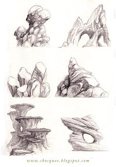 Ethereal Learn To Draw Comics Ideas. Fantastic Learn To Draw Comics Ideas. Landscape Sketch, Landscape Drawings, Landscape Design, Landscape Drawing Tutorial, Landscape Illustration, Drawing Rocks, Painting & Drawing, Draw Comics, Drawing Sketches