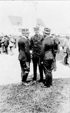 Kong Haakon VII på Jubileumsutstillingen 1914
