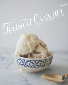 Toasted Coconut Sorbet