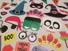 PDF Halloween Photo Booth Props Printable DIY by chelawilliams, $3.95