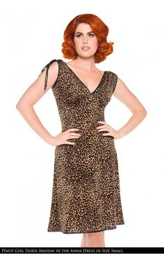 Pinup Couture- Anna Dress in Leopard Print | Pinup Girl Clothing