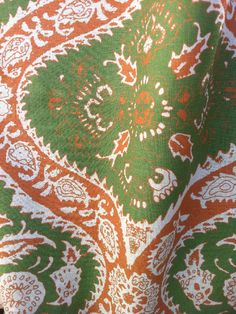 arts and crafts in green from bramalta #fabric #green #orange