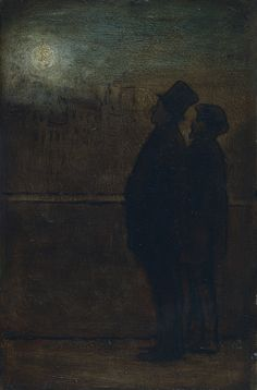 The Night Walkers, 1842-47 - Honoré Daumier, 1808 – 1879, a French printmaker, caricaturist, painter, and sculptor, whose many works offer commentary on social and political life in France in the 19th century.