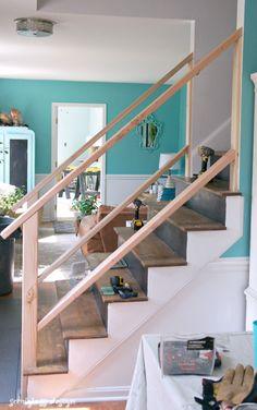 Genial Must See Modern DIY Stair Railing Makeover Tutorial