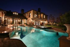 Beautiful house, pool and landscaping.