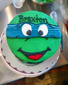 Ninja turtles birthday cake. No fondant!