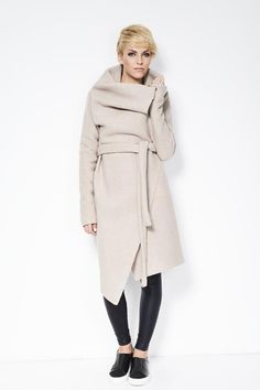 Light Wool Sweater Jacket / Asymmetrical Wool von marcellamoda