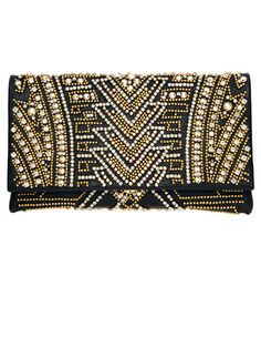 Balmain - obsessed with this Deco clutch from Balmain. Very elegant. Beaded Clutch, Beaded Purses, Beaded Bags, Balmain Bag, Christophe Decarnin, Bags 2014, Trending Art, Spring Fashion Trends, Mode Vintage