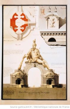 [La porte du Parisis et tuyaux de cheminées] : Autor :Lequeu, Jean Jacques (1757-1825?). Dessinateur