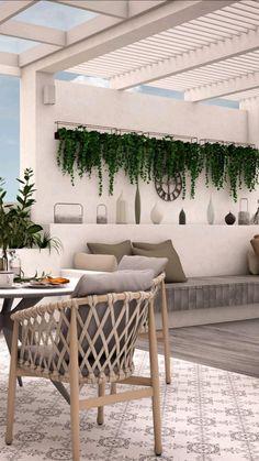 Deck Furniture, Outdoor Furniture Sets, Small Balcony Decor, Balcony Ideas, Porch Ideas, Patio Ideas, Modern Balcony, Outdoor Balcony, Patio Greenery Ideas
