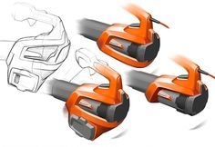 Husqvarna Professional Battery leaf blower on Behance