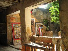 art gallery and the artist himself Senegal, Dakar, Gora island