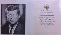 Since 1901, the Joint Congressional Committee on the Inauguration plans and oversees every inauguration of each president from the US Capitol.  As the Committee, they issue engraved invitations, both official and honorary.  This is an honorary invitation for the Inauguration of John F. Kennedy as president of the United States on January 20, 1961.    The black and white photo is not part of the official inaugural ceremonies, but is included here as part of the set only.