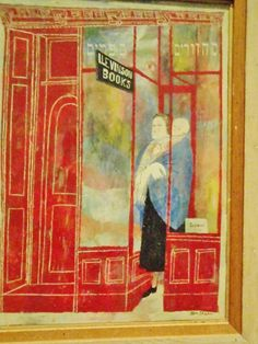 """Bookshop: Hebrew Books, Holy Day Books"", by Ben Shahn. (Detroit Institute of Arts. Detroit, MI.)"