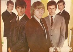 The Yardbirds, late 1963 or 1964; Keith Relf in front, Eric Clapton to his left