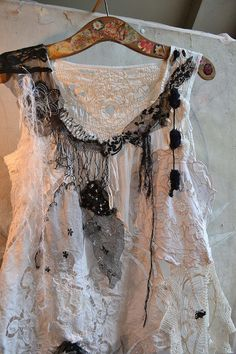 RESERVED for Margie W. Unique Art to Wear White by Paulina722, $158.00