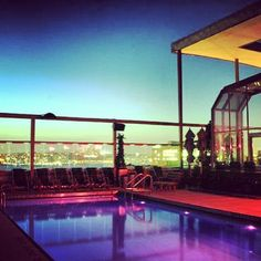 Care for a night time swim? #Pool #Rooftop