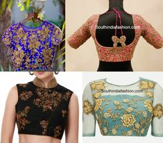 A floral zardosi embroidered blouse will definitely leave us impressed with it's versatility and it's royal beauty. Zardosi Embroidery, Royal Beauty, Work Blouse, India Fashion, Saree Blouse Designs, Embroidered Blouse, Floral, Indian, Crop Tops